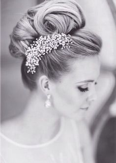 elegant high bridal updo ~ we ❤ this! moncheribridals.com