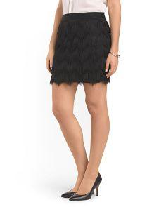 Zig Zag Fringe Skirt