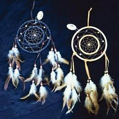 Dreamcatcher Double Ring with Beads & Feathers 19.5-inch (1-pc in Random Color) Dream Catcher with Feathers