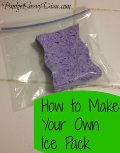 How to Make Your Own Ice Pack #budgettip