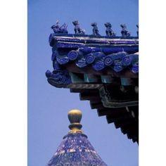 Architectural Details of Temple of Heaven Beijing China Canvas Art - Keren Su DanitaDelimont (12 x 17)