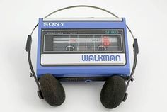 This is a walkman. A walkman is a music player that was popular. This is how people listened to music back than.