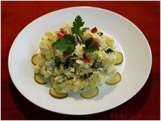A mixture of food, sweets, feelings and thoughts Mole, Mozzarella, Potato Salad, Cauliflower, Potatoes, Chicken, Vegetables, Erika, Ethnic Recipes
