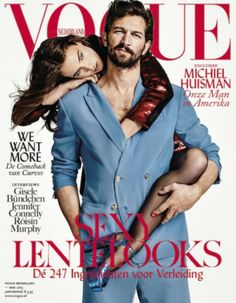 Michiel Huisman covers the May 2015 issue of Vogue Netherlands.