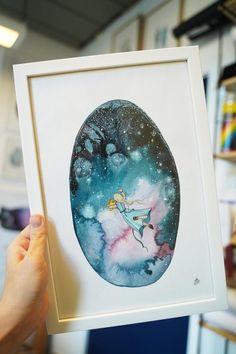 Håndmalede akvareller af Joanna Jensen. Polaroid Film, Kunst