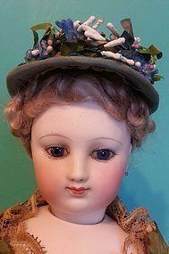 Lovely Silk Faille French Fashion Bonnet~ Artist Made - Cherie's Petite Boutique #dollshopsunited
