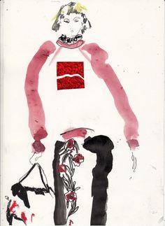 Marc Jacobs SS14 illustration via Helen Bullock