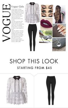 """""""Untitled #428"""" by rasberry893 ❤ liked on Polyvore featuring self-portrait and Topshop"""