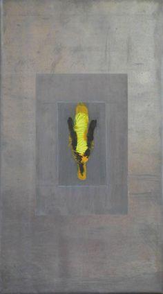 Bleigruppe Teil 2 - Bleibild von Ute Latzke, Mixed Media: Blei, Acryl, MDF-Platte. #blei #lead #art #mixedmedia #graphic