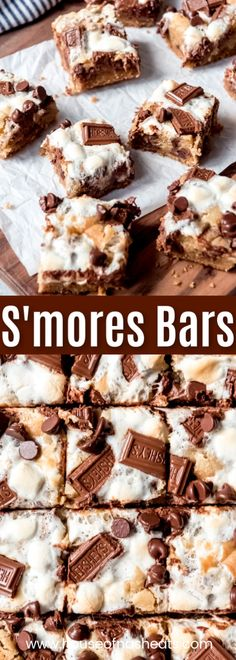S'mores Bars are everybody's favorite campfire treat except in bar form and without thecamping! Gooey marshmallows buttery graham cracker crust and melty chocolate all in wonderful ooey gooey cookie s'mores bars that you won't be able to stop eating! Smores Dessert, Graham Crackers, Graham Cracker Crust, Graham Cracker Dessert, Biscuits Fondants, Cookies Et Biscuits, Gooey Cookies, Chip Cookies, Bar Cookies