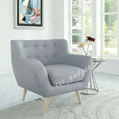 Linen Fabric 1 Single Seat Sofa Tub Arm Chair Dining Living Room Lounge Reception Home Office Cafe Bar. This tasteful single seater sofa will look stylish in any modern home interior, either as a single piece or to complement a living room suite;.   eBay!