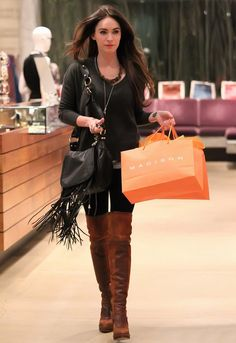 CC Skye Leight Luxe Bag in Black Leather - as seen on Megan Fox