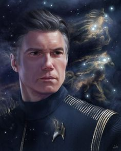 This is the absolute best fanart that I have ever seen of any series. Anson Mount as Captain Christopher Pike. Uss Enterprise, Star Trek Universe, Marvel Universe, Akira, Anson Mount, Starfleet Academy, United Federation Of Planets, Star Trek Captains, Star Trek Characters