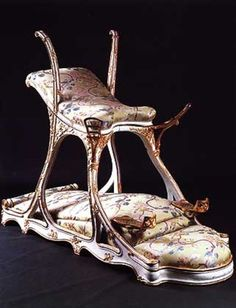 Sex chair (1890) commissioned by Edward VII (1841-1910) for a brothel he frequented.