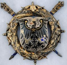 Historic Imperial German Kaiser Wilhelm Silver Gilt Court Badge