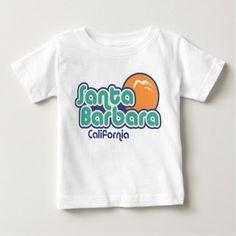 Santa Barbara California Baby T-Shirt - love gifts cyo personalize diy
