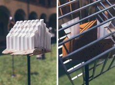 Design by Mobo Architects (left) and Sergio Crotti (right) © Migrant Garden