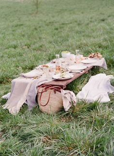 Outdoor spring picnic inspiration.