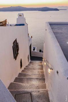 Sunset steps, Firostefani, Santorini, Greece