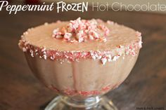 peppermint frozen hot chocolate