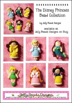 Disney Princess Polymer Clay Bead via Etsy