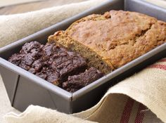Zucchini Bread Two Ways, Chocolate Zucchini Bread, Banana Zucchini Bread, Banana Bread, Zucchini Bread, Chocolate, Quickbread, Healthy Baking, Coconut Oil, Healthy Dessert, Make-Ahead
