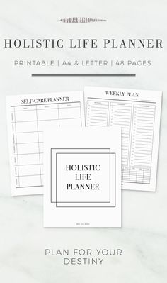 A Curated Collection of 48 Printables to help boost your productivity, spark your creativity and actualize your dreams