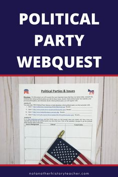This is a two-page political party web search. It takes my class a full 50 minutes to complete! There are three activities included in the websearch. This is a wonderful activity to enhance any civics course!