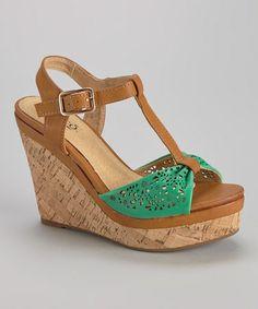 Another great find on #zulily! Green Kolada Wedge Sandal #zulilyfinds