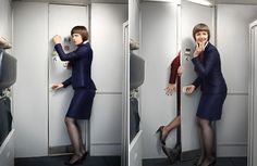 """Flight Attendant: """"Oh dear, I think we've got two passengers trying to join the Mile High Club! Unfortunately, I'm going to have to pull them out of there, arrest them and put restraints on them. Mind you, they'll probably enjoy being tied up! Lifehacks, British Airways Cabin Crew, Aviation Humor, Come Fly With Me, Girls Uniforms, Attendance, Air Travel, Sky High, The Secret"""