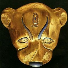 Head of a Leopard from the Tomb of Tutankhamun.