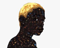 All These Garlands Prove Nothing - Ballpoint pen & marker Portraits by Toyin Odutola   Art Sponge