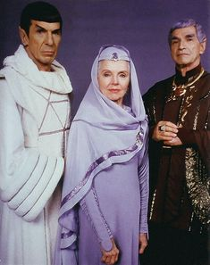 Spock with his mother Amanda, and his father Sarek