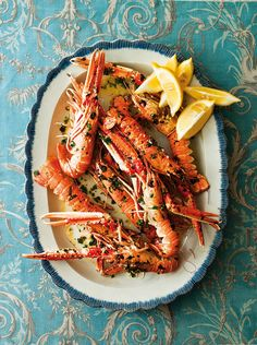 Langoustines starter idea - Roasted with garlic, then serve with warm crusty ciabatta and green salad.