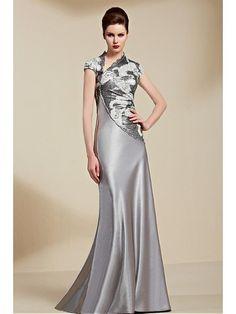 Alluring Malay & Beaded Lace High Collar Neckline Floor-length A-line Prom Dress