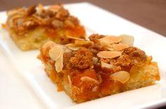Plaatkoek met abrikozen