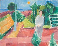 Jais Nielsen In a Garden by the Sea, 1924 24x29