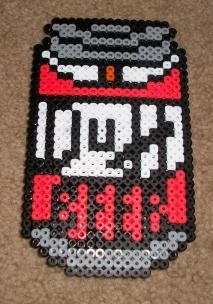 Duff Beer The Simpsons perler beads by super-baka on deviantart Perler Beads, Perler Bead Art, Fuse Beads, Pearler Bead Patterns, Perler Patterns, Futurama, Duff Beer, Melting Beads, Beaded Cross Stitch