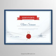 Elegant certificate template Free Vector