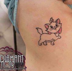Marie tattoo Retro Tattoos, Mini Tattoos, Cat Paw Tattoos, Sharpie Tattoos, Cat Tattoo, Body Art Tattoos, Tatoos, Disney Tattoos, Tiny Disney Tattoo