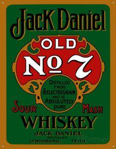 Jack Daniels Green Tin Sign