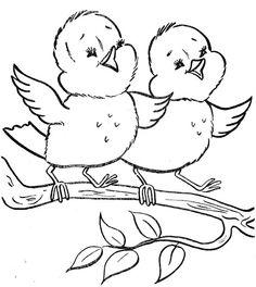 53 Ideas Bird Doodle Cute For 2019 Spring Coloring Pages, Bird Coloring Pages, Easter Colouring, Coloring For Kids, Adult Coloring Pages, Coloring Books, Bird Embroidery, Hand Embroidery Patterns, Embroidery Designs