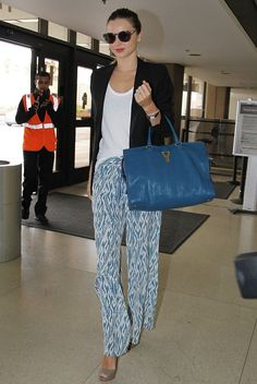 I just love her! Love the pants, love the bag, love everything!