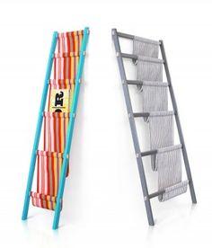 Folding Screen and Magazine Rack by Note Design Studio - Design Milk Ladder Bookshelf, Ladder Storage, Bookshelves Kids, Book Storage, Bookcases, Storage Ideas, Note Design Studio, Old Ladder, Diy Craft Projects