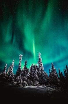 Neon Night is a photograph by Robert Fawcett. A view of the night sky from Fairbanks, Alaska. Source fineartamerica.com