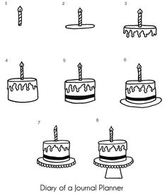 letter cake geburtstag Simple step by step happy birthday doodles that you can create yourself. Includes pi`nata doodle, cupacake and cake doodles, banners and more fun drawings. Happy Birthday Doodles, Happy Birthday Drawings, Happy Birthday Illustration, Art Birthday, Doodle Cake, Banner Doodle, Love Doodles, Simple Doodles, Easy Drawings For Kids