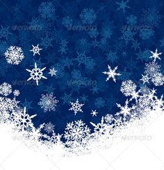 Snowflake Christmas Card Background - Christmas Seasons/Holidays