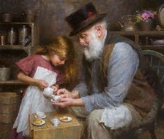 Papa's Tea - Morgan Weistling - World-Wide-Art.com