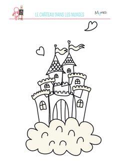 Coloriage du château dans les nuages Album Jeunesse, Jack And The Beanstalk, Nursery School, Preschool Worksheets, Pre School, Coloring Pages, Stage Yoga, Diy And Crafts, Grimm