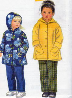 Unisex Childrens Fleece Hooded  jacket and Pants Sewing Pattern, Childrens Sizes 2,3,4,5,6,6X, 21 to 25.5 Inch Chest, Uncut, by OnceUponAnHeirloom on Etsy